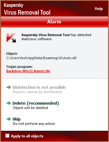 Kaspersky Virus Removal Toolその3